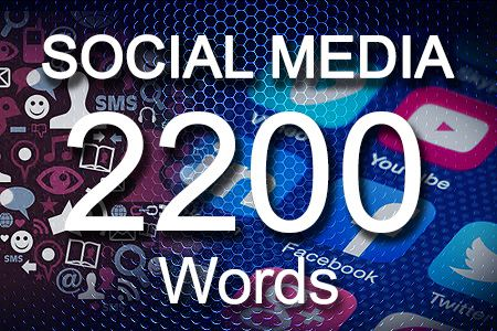 Social Media Posts 2200 words