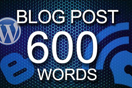Blog Posts 600 words
