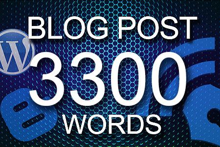 Blog Posts 3300 words