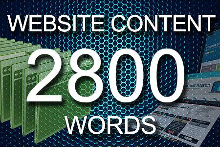 Website Content 2800 words
