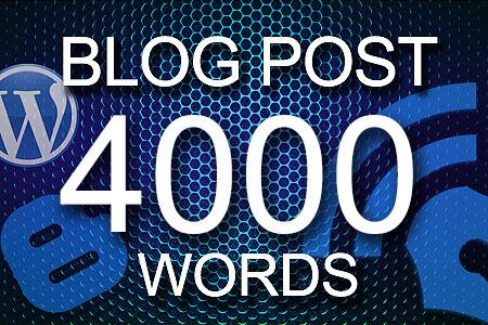 Blog Posts 4000 words