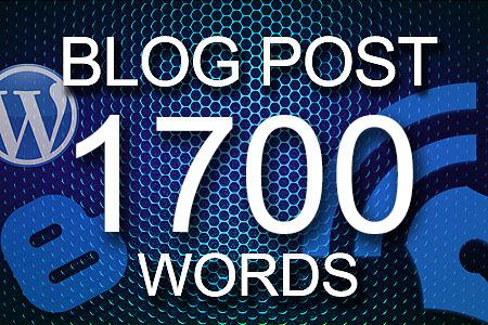 Blog Posts 1700 words
