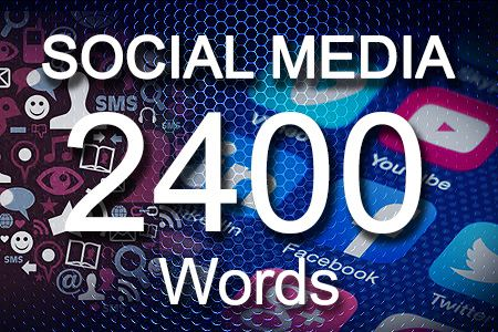 Social Media Posts 2400 words
