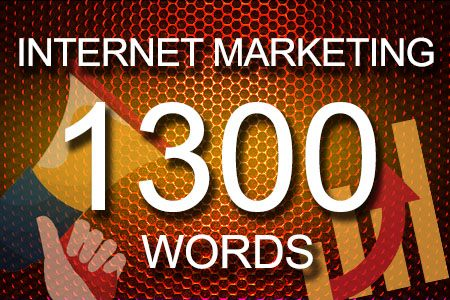 Internet Marketing 1300 words