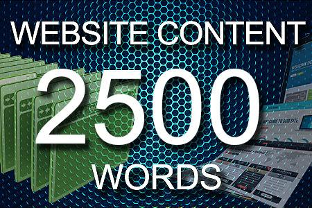 Website Content 2500 words