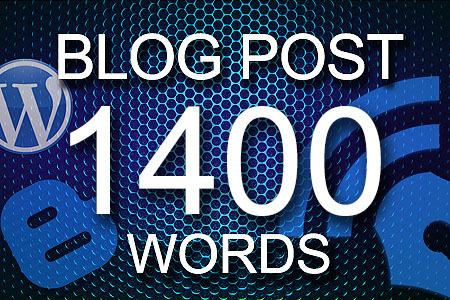 Blog Posts 1400 words