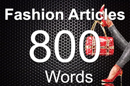 Fashion Articles 800 words