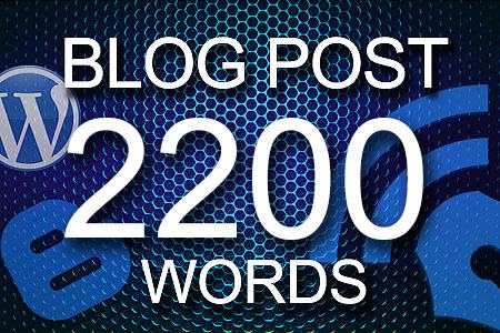 Blog Posts 2200 words
