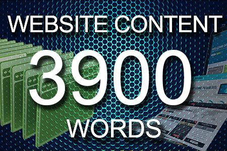 Website Content 3900 words