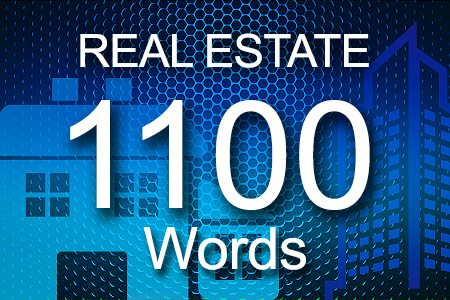 Real Estate 1100 words