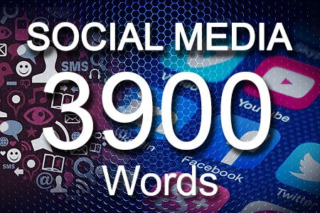 Social Media Posts 3900 words