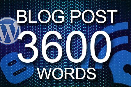 Blog Posts 3600 words