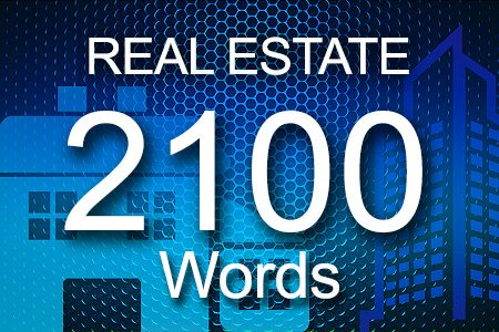 Real Estate 2100 words