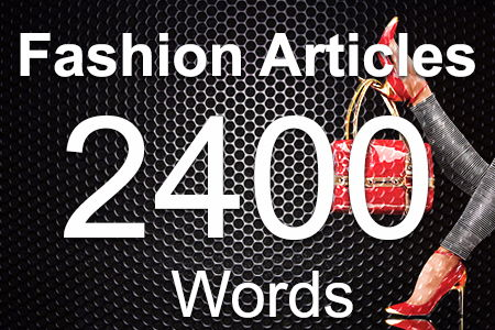Fashion Articles 2400 words