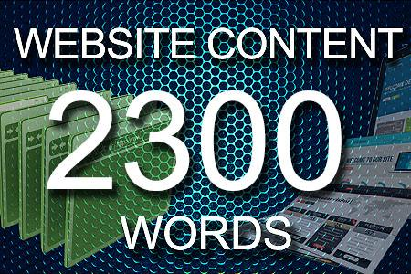 Website Content 2300 words