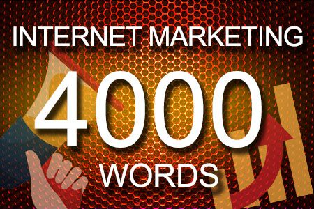 Internet Marketing 4000 words