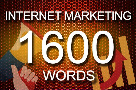 Internet Marketing 1600 words