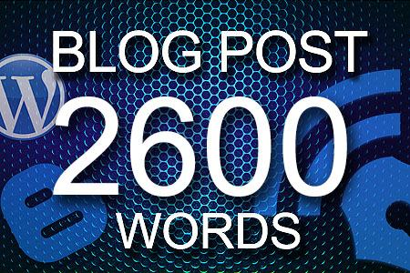 Blog Posts 2600 words