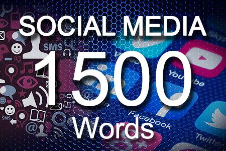 Social Media Posts 1500 words