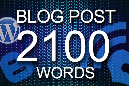Blog Posts 2100 words