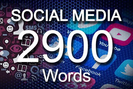 Social Media Posts 2900 words