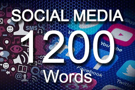 Social Media Posts 1200 words