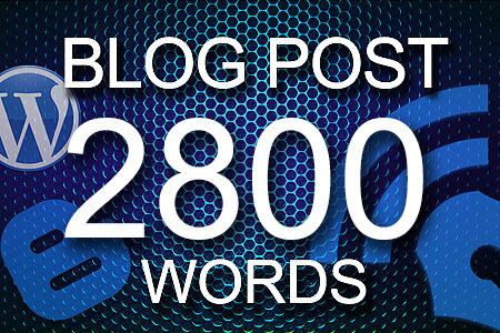 Blog Posts 2800 words