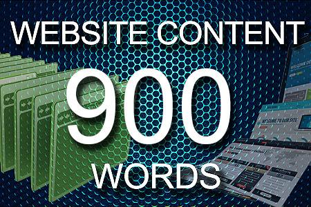 Website Content 900 words