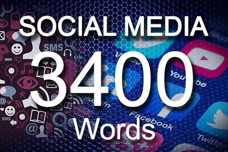 Social Media Posts 3400 words